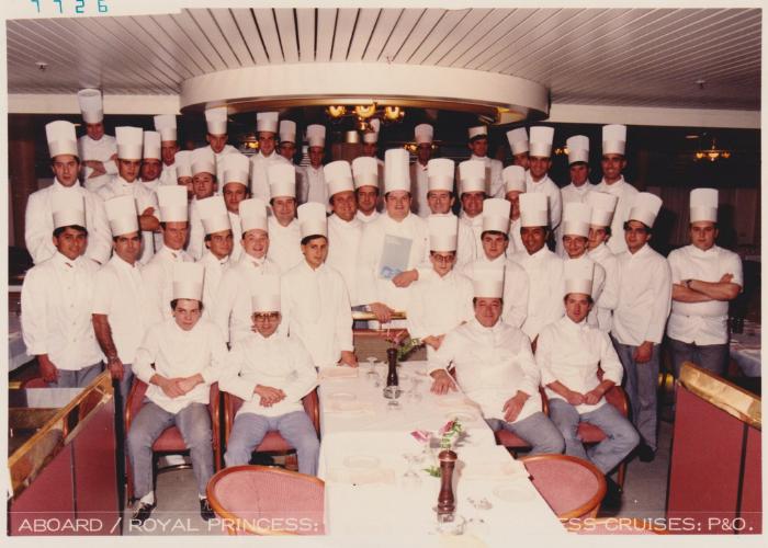 Chef Paolo sulla Princess Cruise
